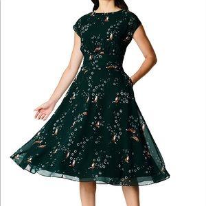 eShakti Fox Empire Georgette Dress - 2X/22W